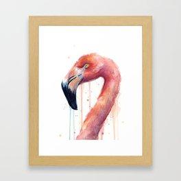 Pink Flamingo Painting Framed Art Print