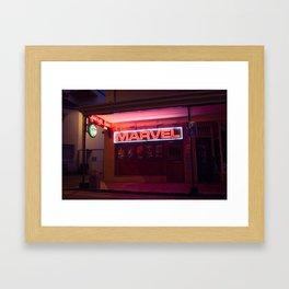Club Signage Framed Art Print