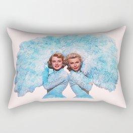 Sisters - White Christmas - Watercolor Rectangular Pillow