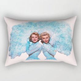 Sisters - White Christmas - Watercolor Rectangular Pillow