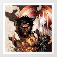x men Art Prints featuring X-MEN by Thorin