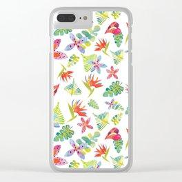 Tropicolors Clear iPhone Case