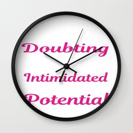 Doubt Intimidated Smart With Potential Person Gift Wall Clock