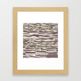 SILVER TECHNO Framed Art Print