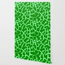 Green Giraffe Print Wallpaper