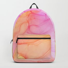 Alcohol Ink - Tropical Pink, Orange & Yellow Backpack