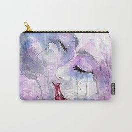 "Watercolor Painting of Picture ""Passion"" Carry-All Pouch"