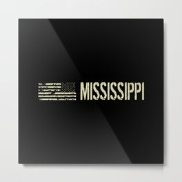 Black Flag: Mississippi Metal Print