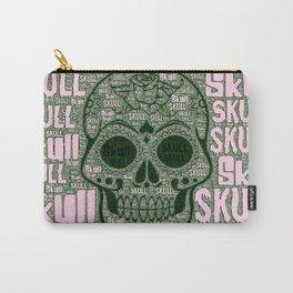 WordArt Skull A Carry-All Pouch