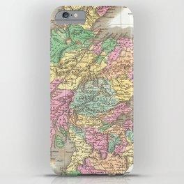 Vintage Map of Scotland (1827)  iPhone Case