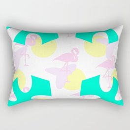 Flamingo vibrant motif Rectangular Pillow