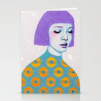 sweater Stationery Cards featuring The Observer by Natalie Foss