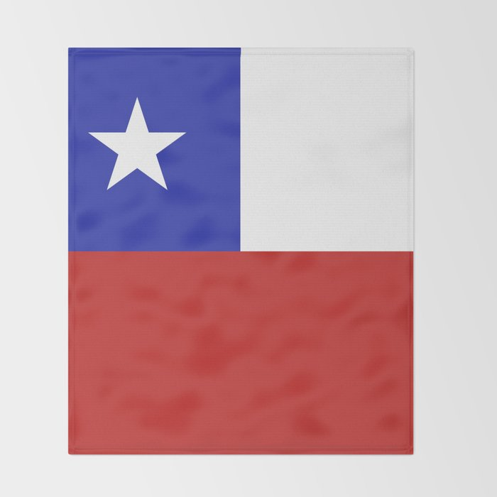 Chile flag emblem Throw Blanket