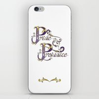 pride and prejudice iPhone & iPod Skins featuring Pride and Prejudice by Ketina