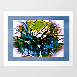 Jumbled Trees Art Print