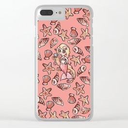 Shelly Mermaid Shells Shellfie Clear iPhone Case