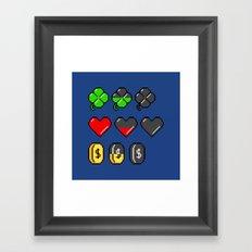 Video Game Stats Framed Art Print