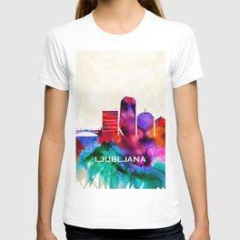 Ljubljana Skyline T-shirt