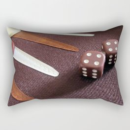 Backgammon dice double Rectangular Pillow