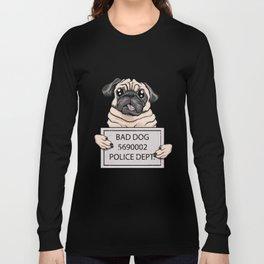 mugshot dog cartoon. Long Sleeve T-shirt