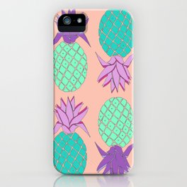 pineapple small coral iPhone Case