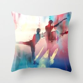 dancing all the way  Throw Pillow