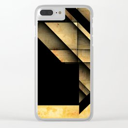 Geometric Shapes Clear iPhone Case