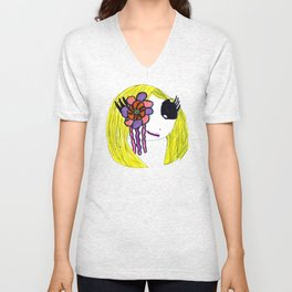 Cutie Sugar Scull Girl Unisex V-Neck