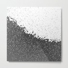black and white background Metal Print