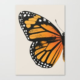 Monarch Butterfly | Left Wing Canvas Print