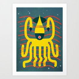 The calamari yellow Art Print