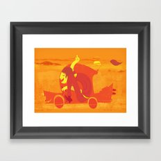 Gone! Framed Art Print