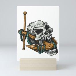 Pirate Skull Boat Anchor Skeleton Mini Art Print