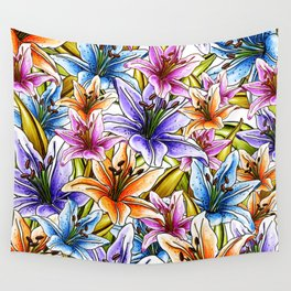 Stargazer Lily Floral Wall Tapestry