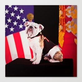 Bulldog Navy Official Mascot Dog Canvas Print
