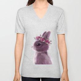 Fairy bunny Unisex V-Neck