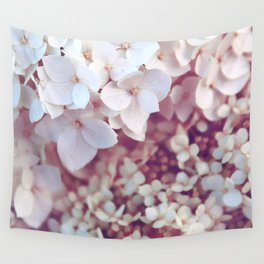 Pink and White Flowers (Color) Wall Tapestry