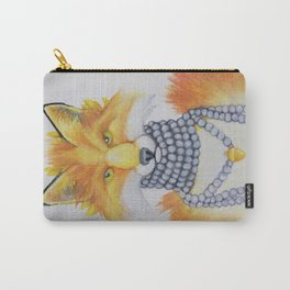 Fox Fur and Pearls Carry-All Pouch