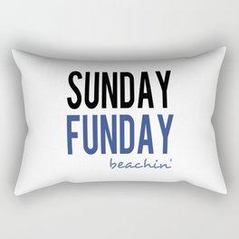 Sunday Funday Beachin' Rectangular Pillow