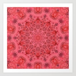 Pink paisly Art Print