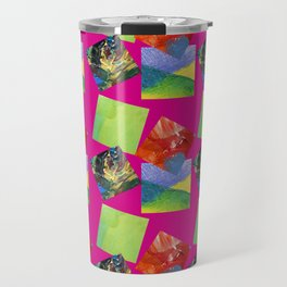 Painted Squares Jiggle - Pink Travel Mug