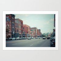 nashville Art Prints featuring Nashville by Sanguine Eyes