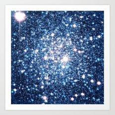 Galaxy Stars: Riverside Blue Art Print