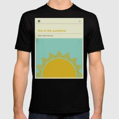 Live in the Sunshine Black MEDIUM Mens Fitted Tee