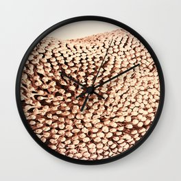 Oxidized Landscape Pink Wall Clock