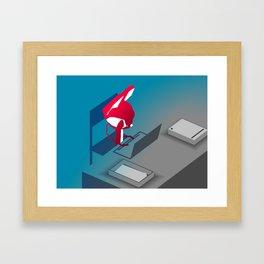 Please Say Something - Work Framed Art Print