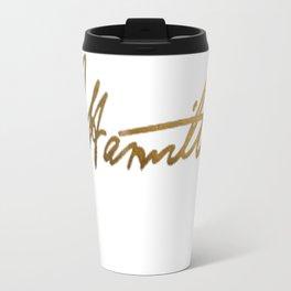 Alexander Hamilton Gold Signature Travel Mug