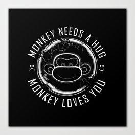 Black Mirror Monkey Canvas Print