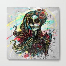 Vivid Muerte Metal Print