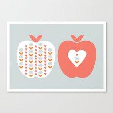 Scandi Apples Canvas Print